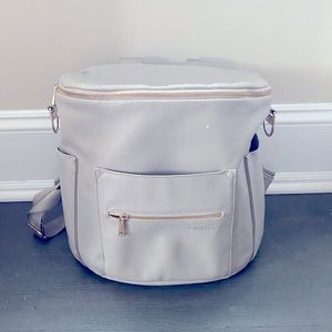 Fawn Design Grey Backpack Diaper Bag